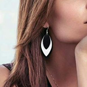 NEW Free Flow Leather Droplet Earrings